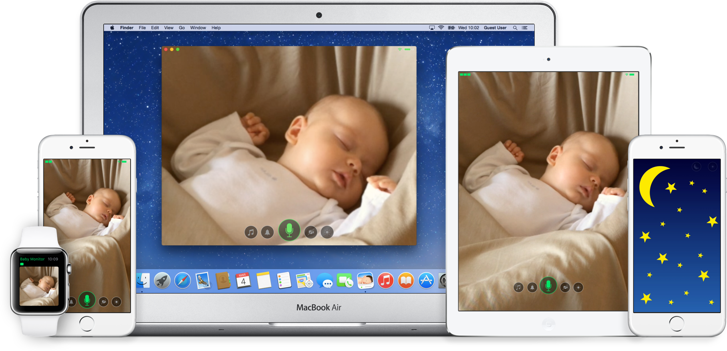 Cloud Baby Monitor - Unlimited Range Video Baby Monitor for